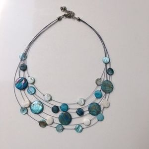 Modern statement necklace